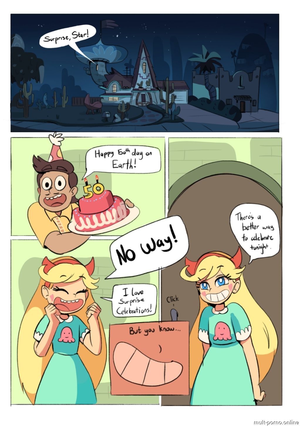 Star rides Marcos dick (Star vs. the Forces of Evil) (+porn comics)