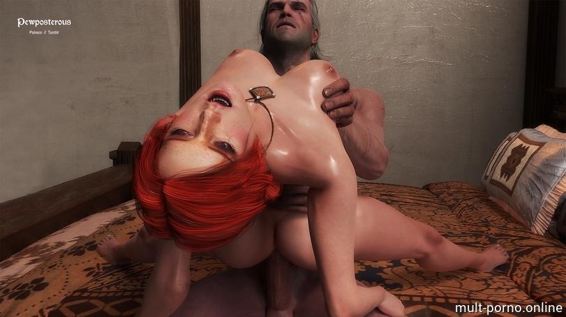 Порно с ведьмаком